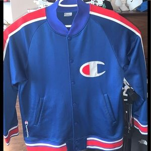 Rare Vintage Champion Varsity button up jacket